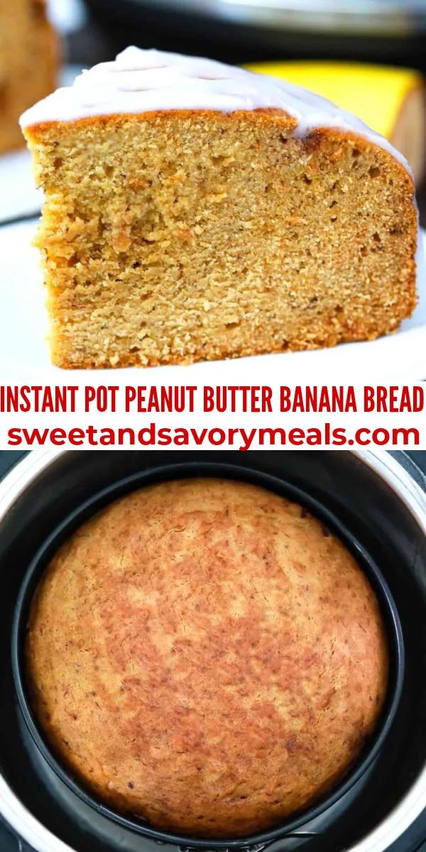 instant pot peanut butter banana bread pin