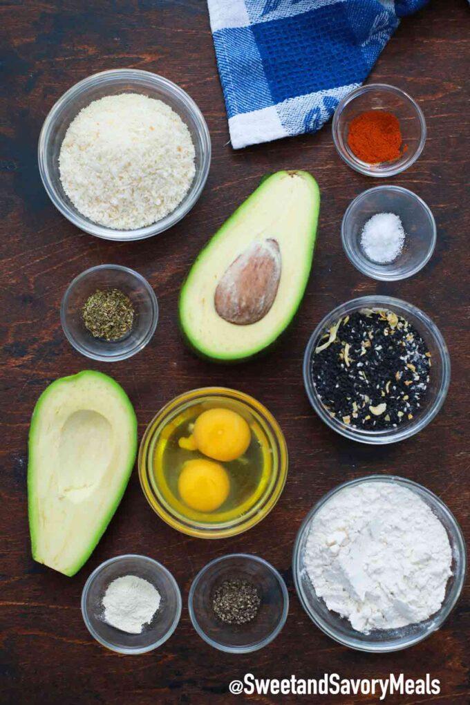 air fryer avocado fries ingredients