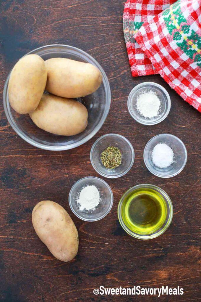 Air fryer baked potatoes ingredients