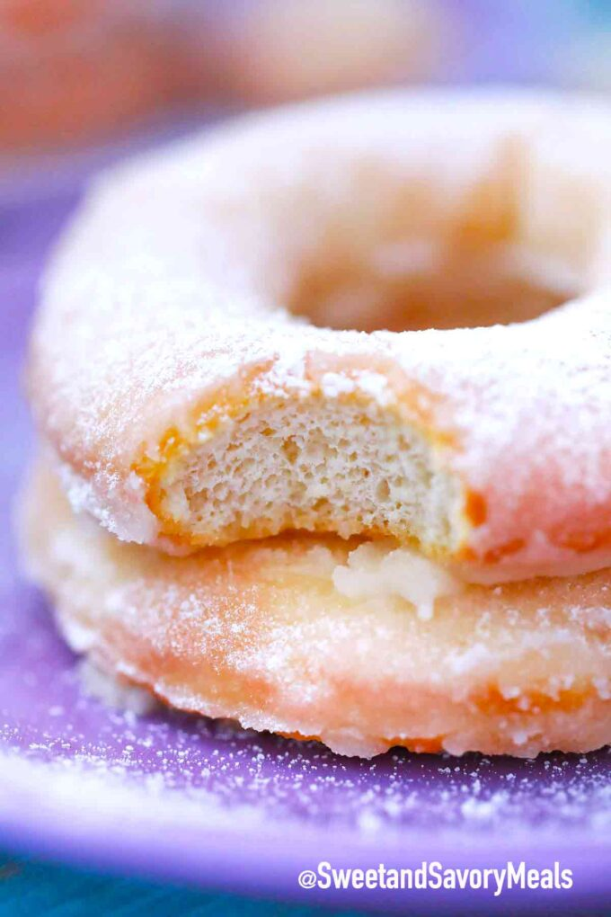 air fryer donuts with a bite