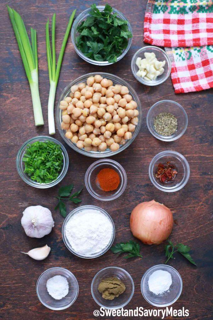 air fryer falafel ingredients