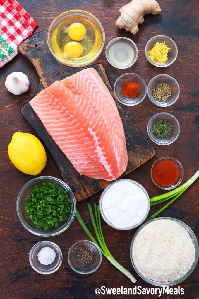 air fryer salmon cakes ingredients
