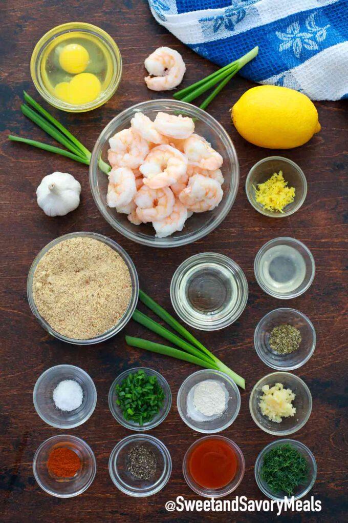 air fryer shrimp cakes ingredients