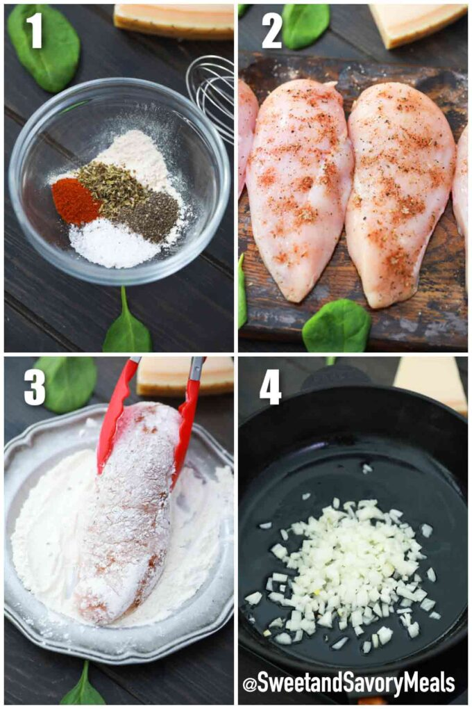 steps how to make one pan creamy parmesan chicken