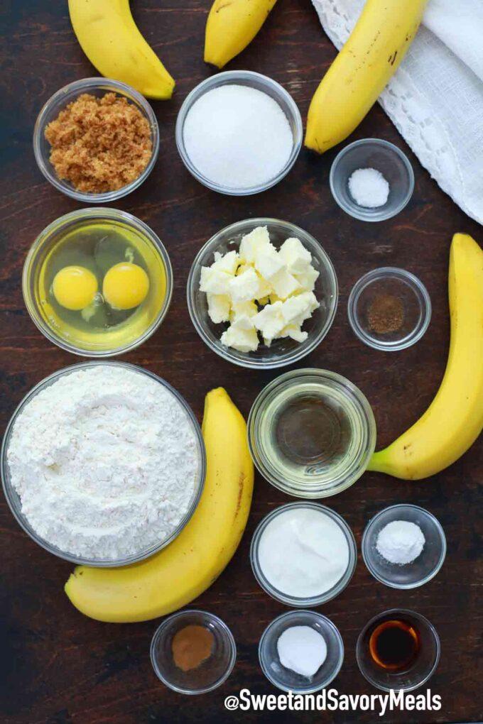 instant pot banana bread ingredients