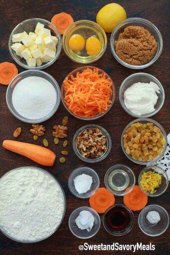 instant pot carrot bread ingredients