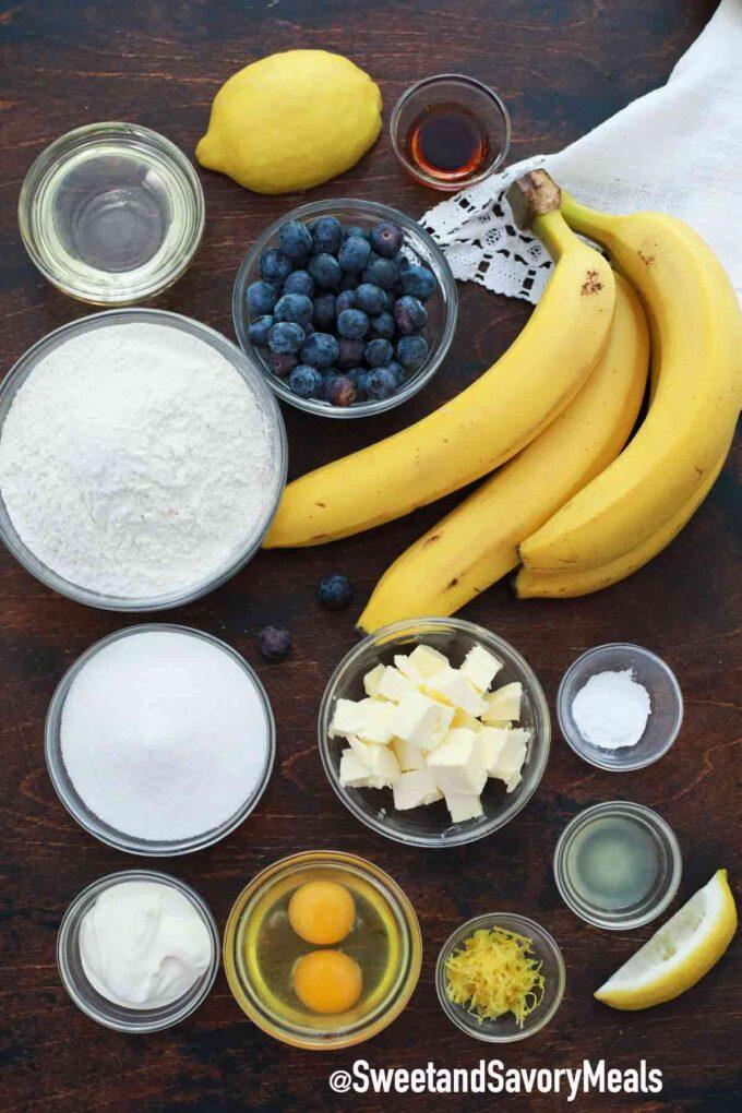 instant pot lemon blueberry banana bread ingredients
