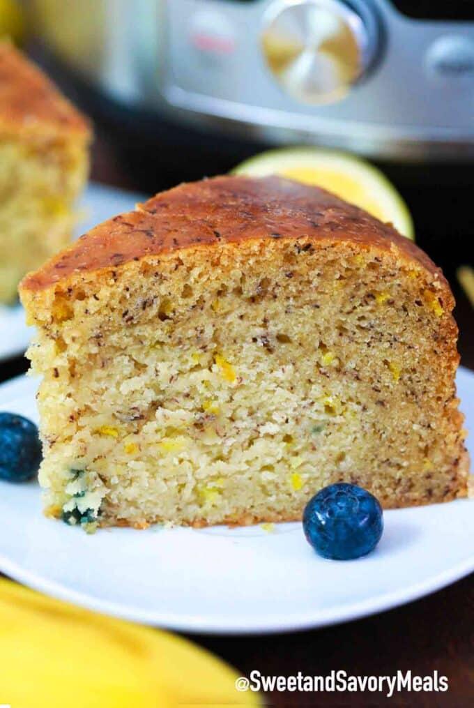 instant pot lemon blueberry banana bread