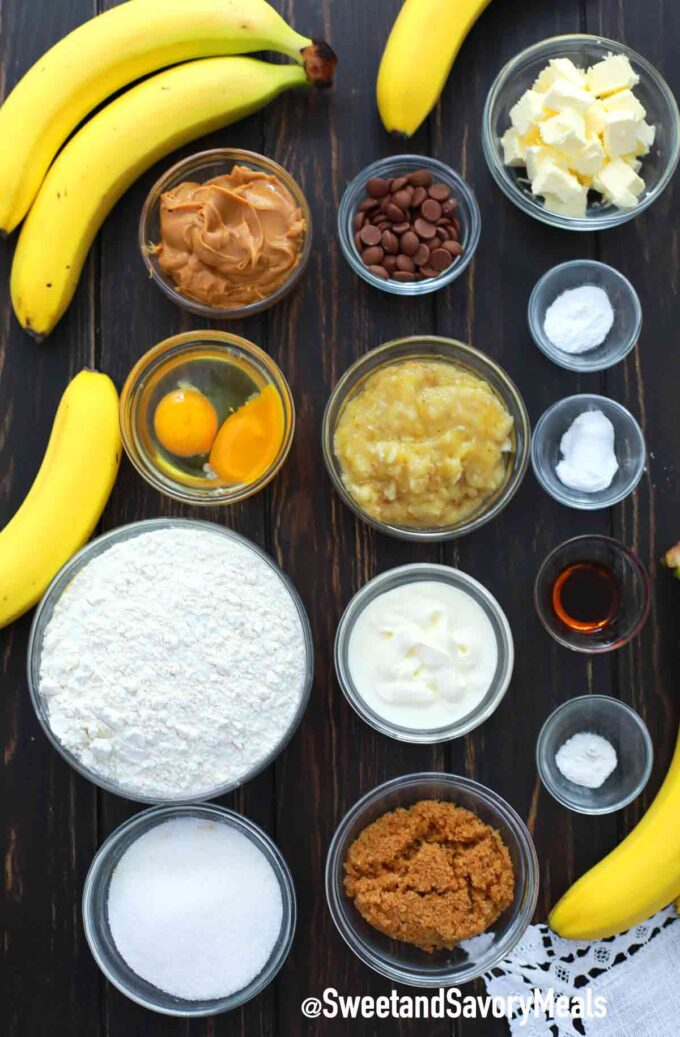 instant pot peanut butter banana bread ingredients