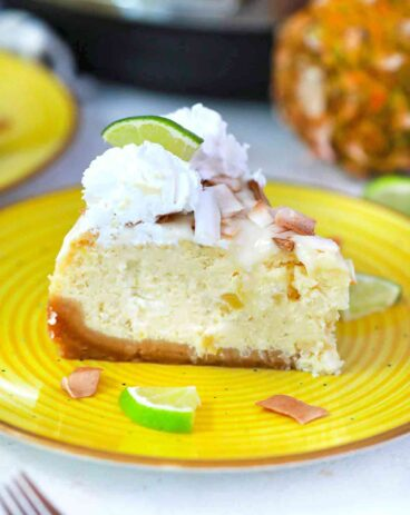 Instant Pot Pina Colada Cheesecake