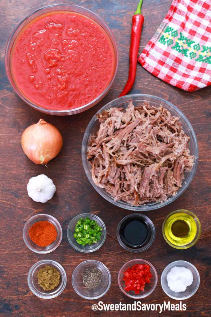 instant pot texas brisket chili ingredients