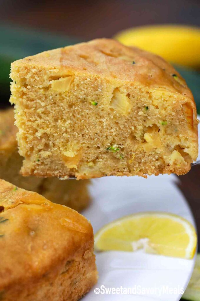instant pot zucchini bread with pineapple chunks