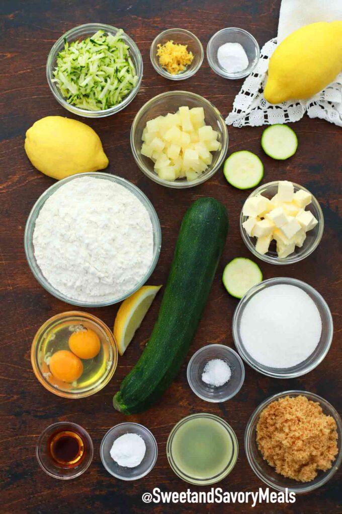 instant pot zucchini bread ingredients