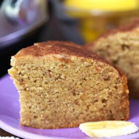 instant pot banana bread slice on a plate