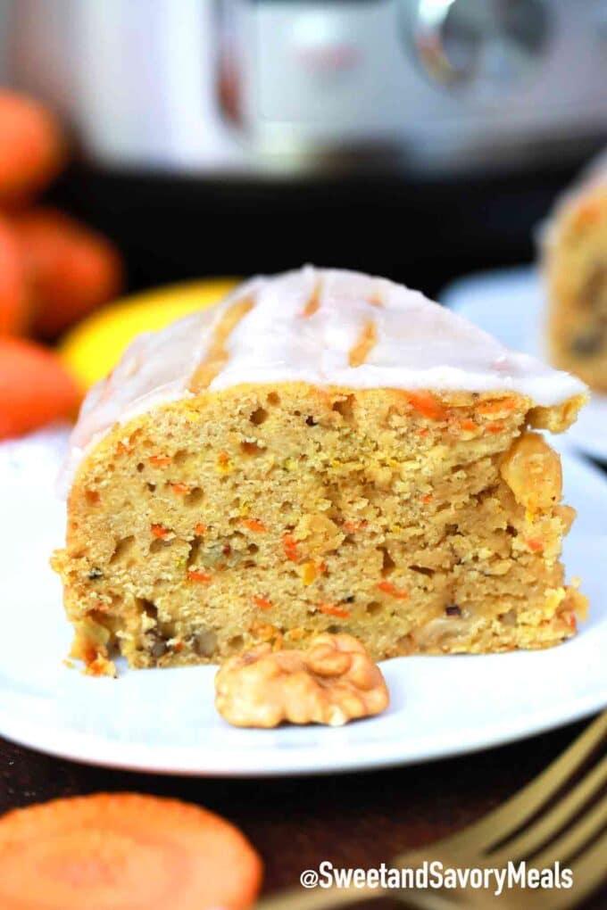 instant pot carrot bread slice