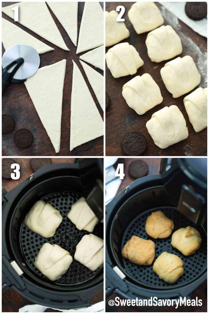 steps how to make air fried Oreos