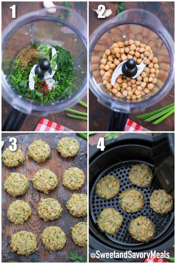 steps how to make air fryer falafel