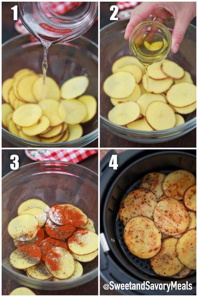 steps how to make air fryer potato chip