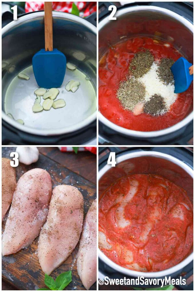 steps how to make instant pot chicken parmesan