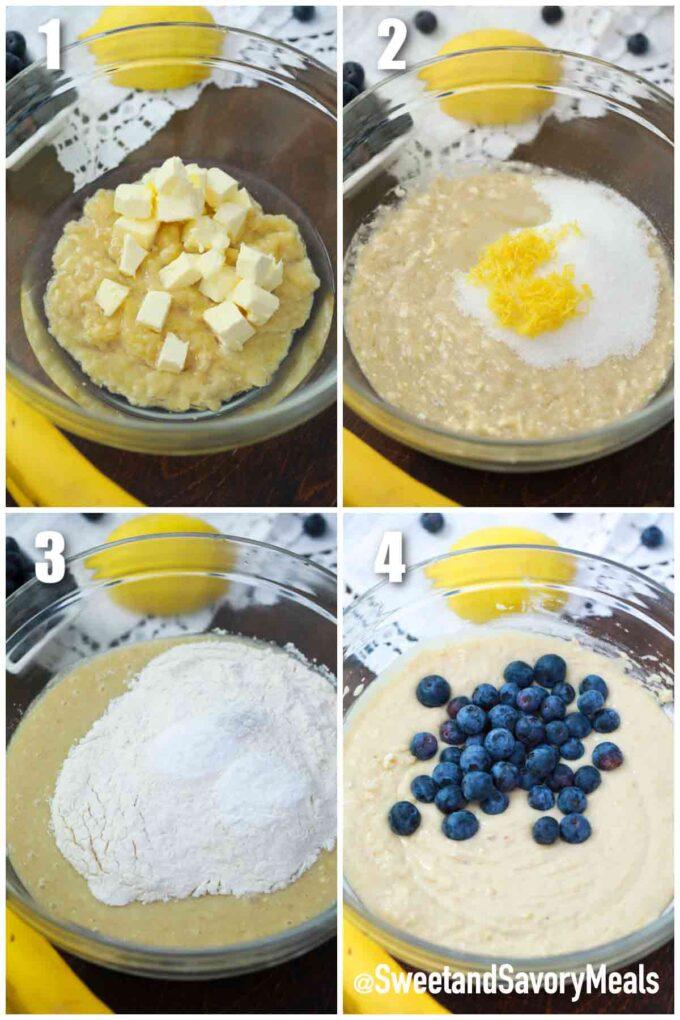 steps how to make instant pot lemon blueberry banana bread