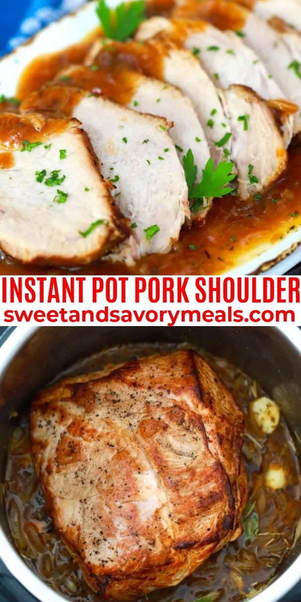 easy instant pot pork shoulder pin