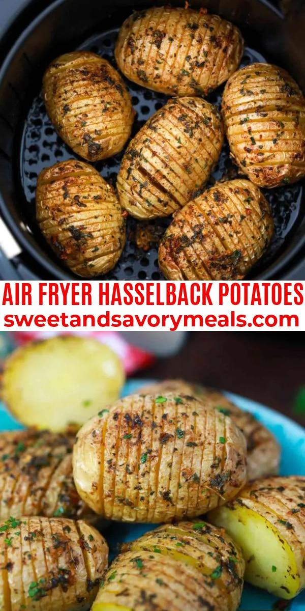 easy air fryer hasselback potatoes pin