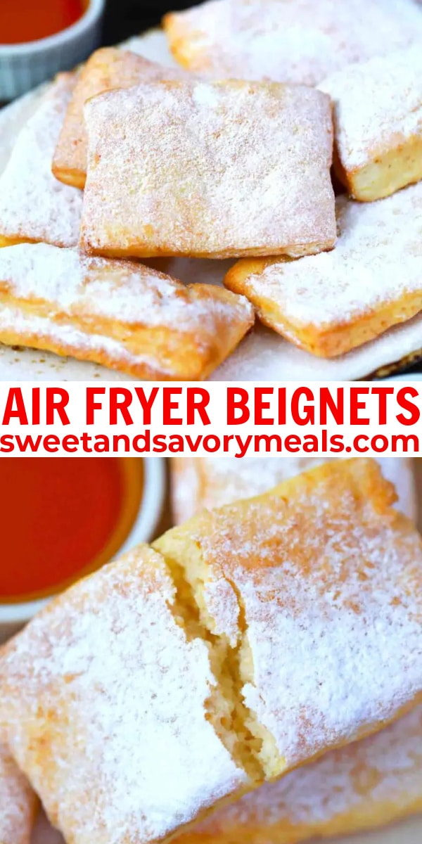 easy air fryer beignets pin