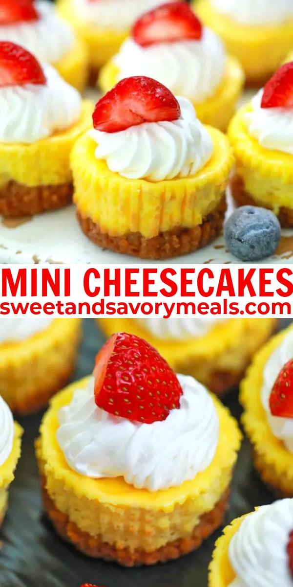easy mini cheesecakes pin