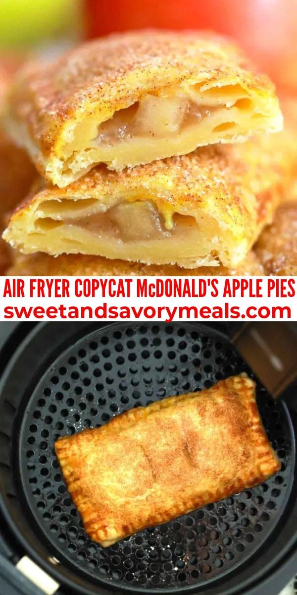 easy air fryer copycat mcdonalds apple pies pin