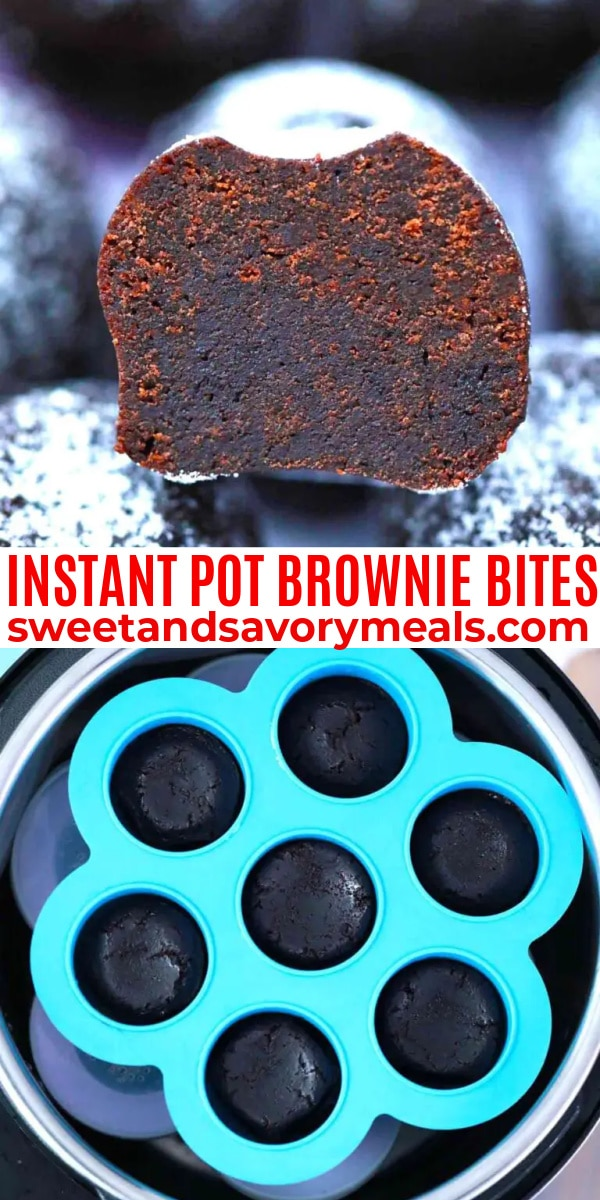 easy instant pot brownie bites pin