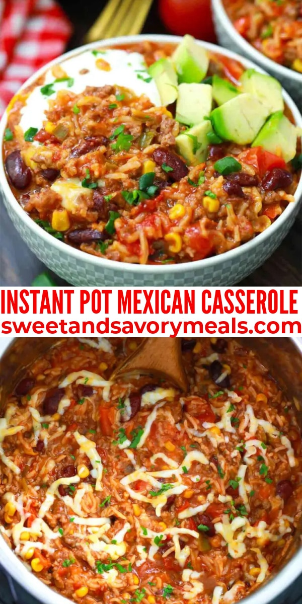 easy instant pot mexican casserole pin
