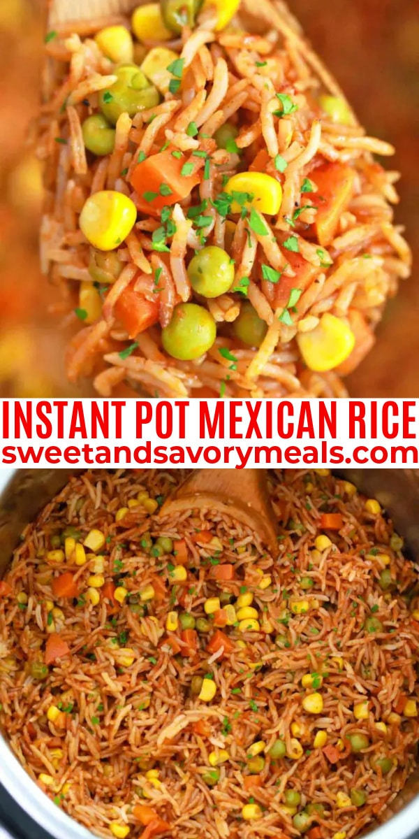 easy instant pot mexican rice pin