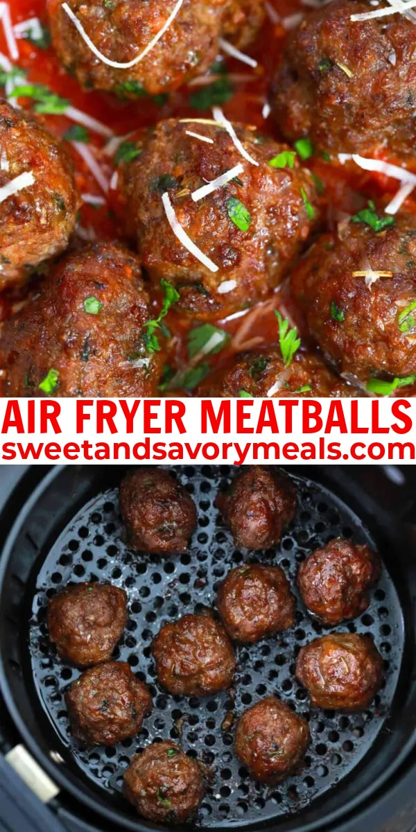 easy air fryer meatballs pin