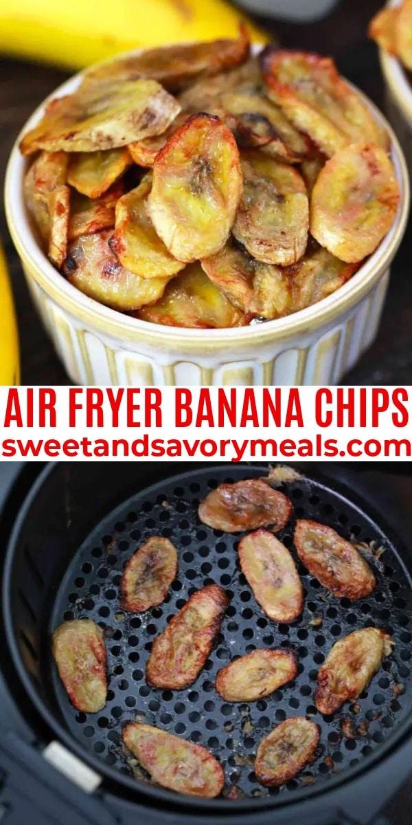 easy air fryer banana chips pin