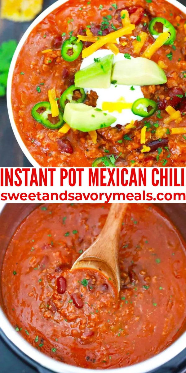 easy instant pot mexican chili pin