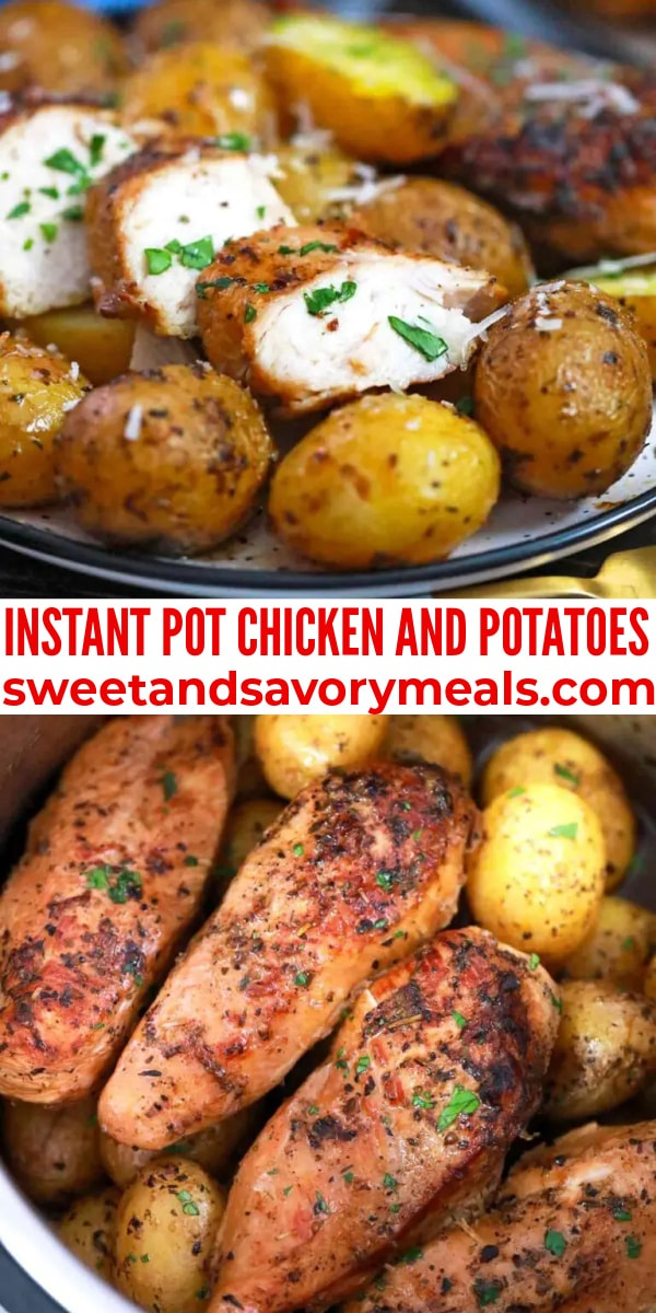 easy instant pot chicken and potatoes pin