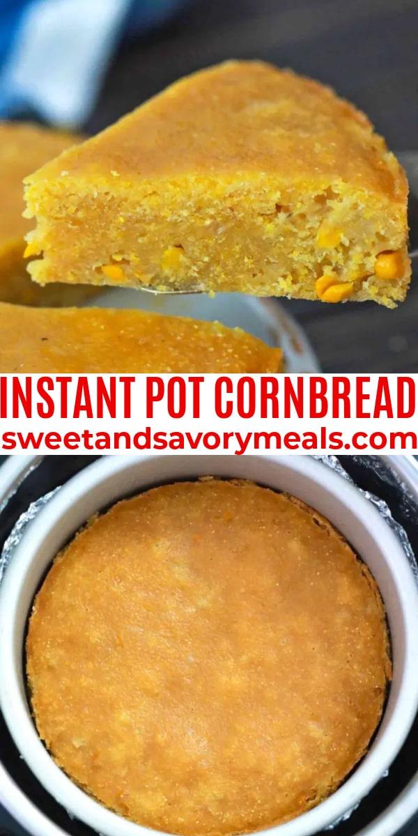 easy instant pot cornbread pin