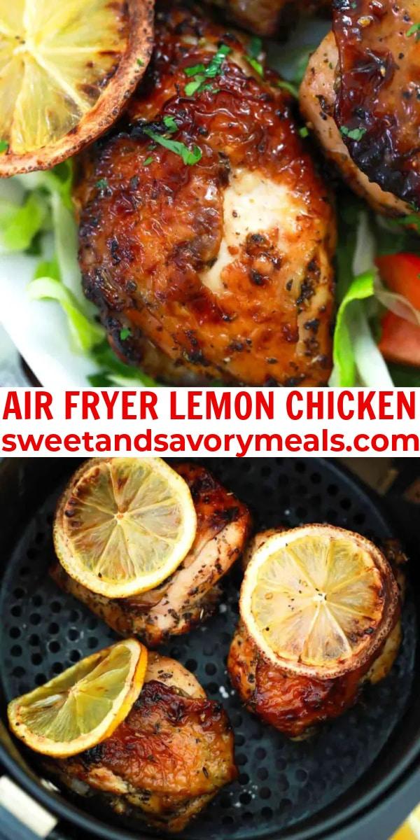 easy air fryer lemon chicken pin