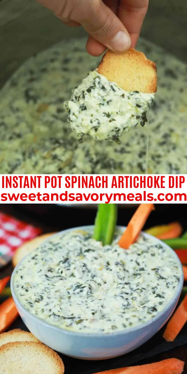 easy instant pot spinach artichoke dip pin
