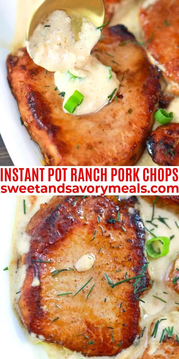 easy instant pot ranch pork chops pin