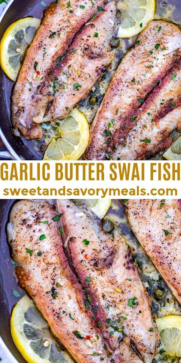 easy garlic butter swai fish pin