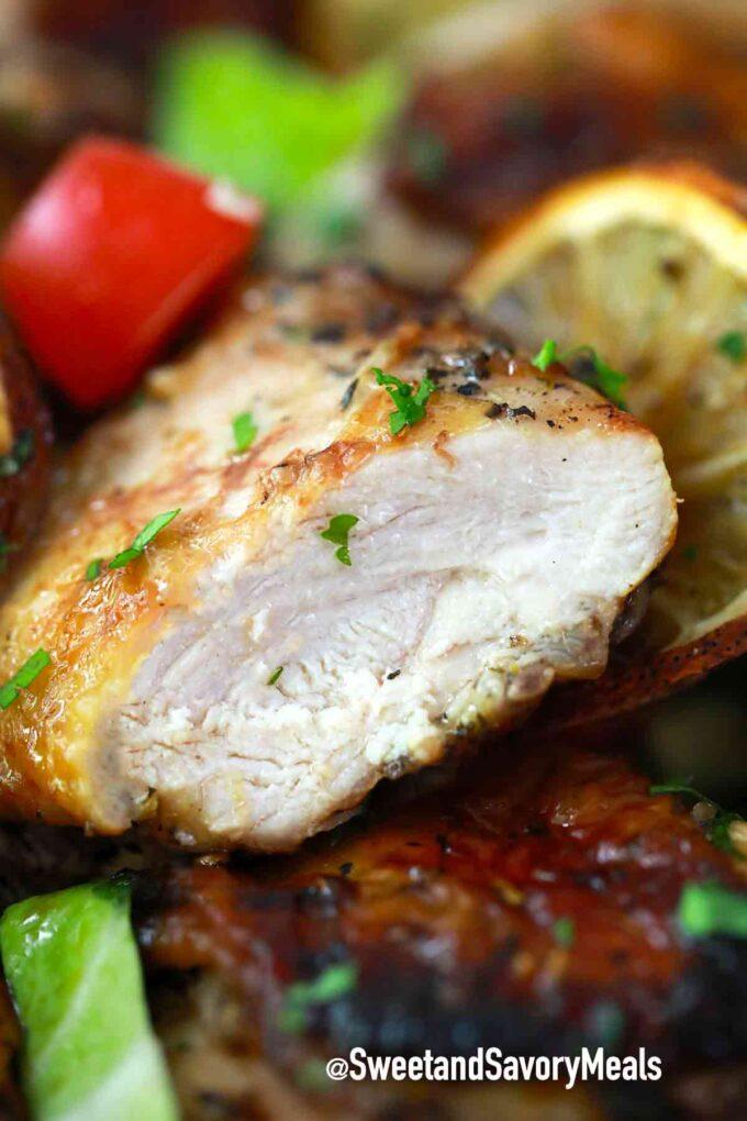 sliced lemon chicken