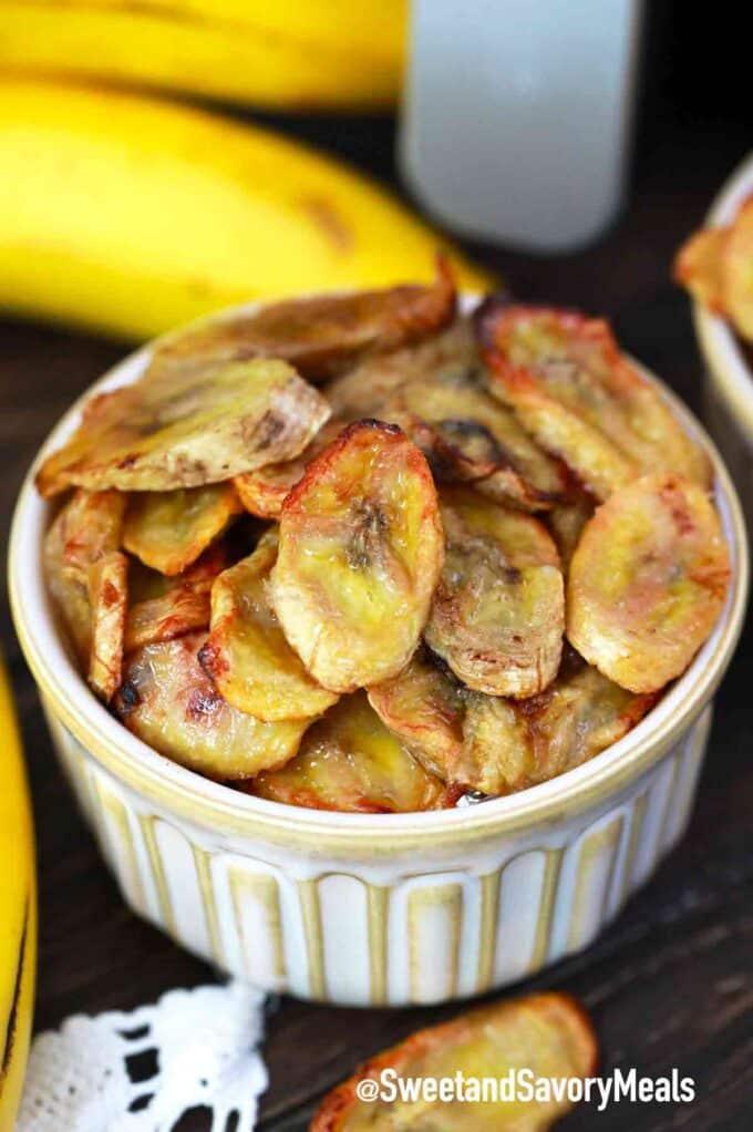 air fried banana chips