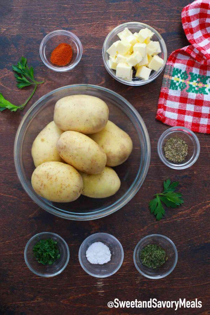 air fryer hasselback potatoes ingredients
