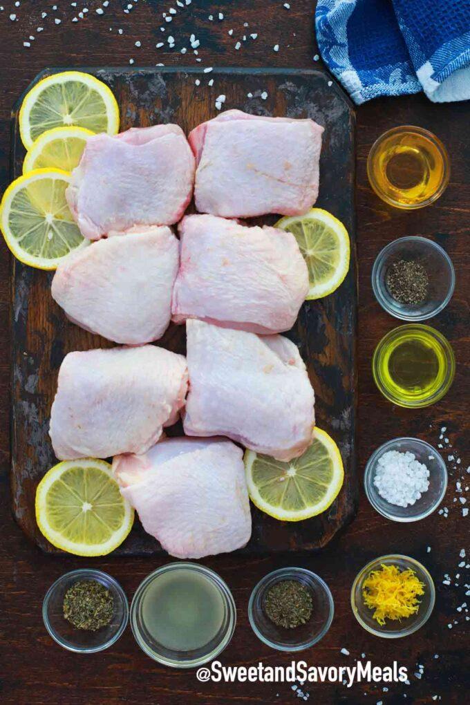 air fryer lemon chicken ingredients