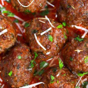 air fryer meatballs in marinara sauce