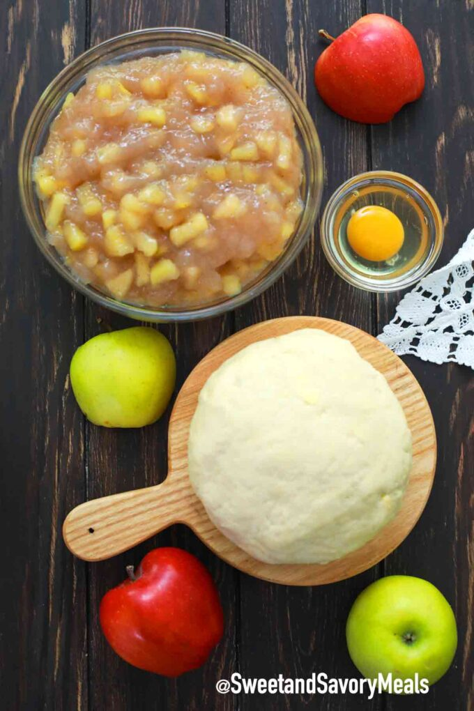 air fryer apple pie ingredients
