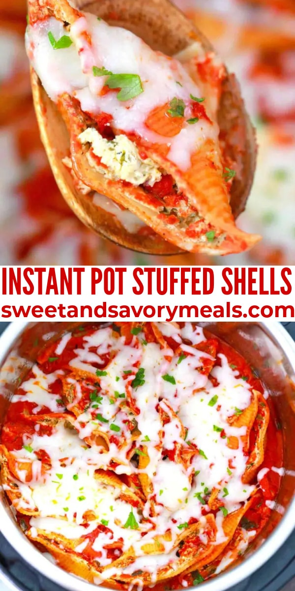 easy instant pot stuffed shells pin