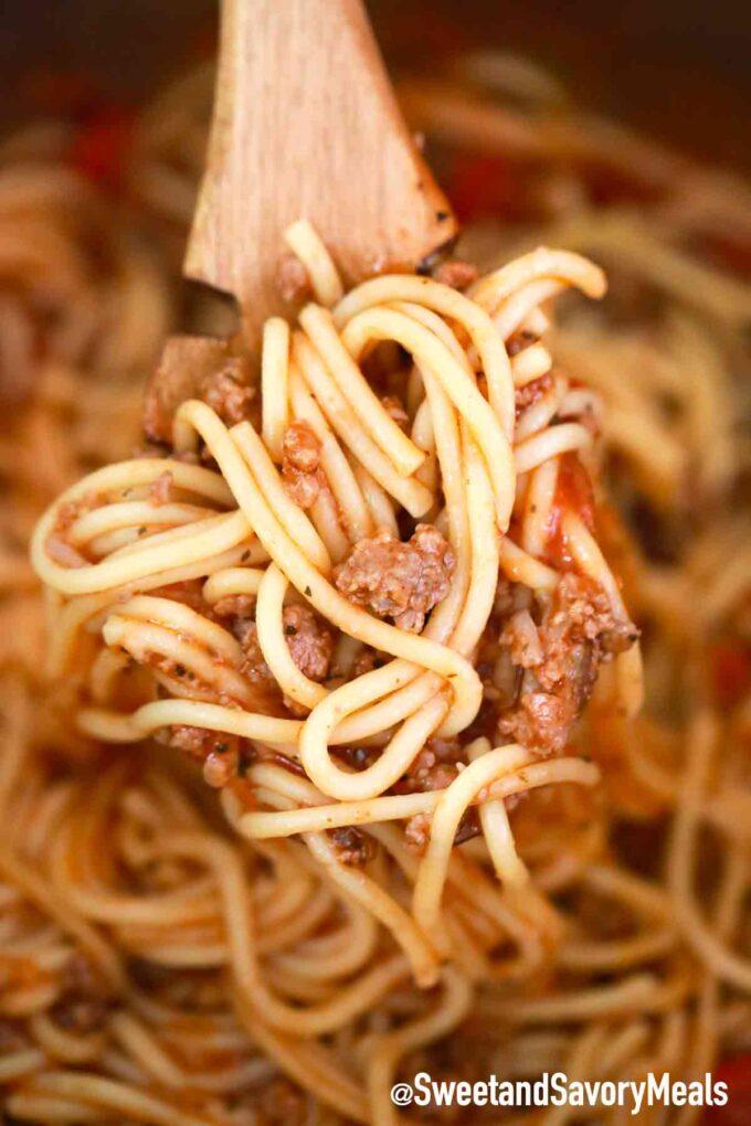 spaghetti with beef