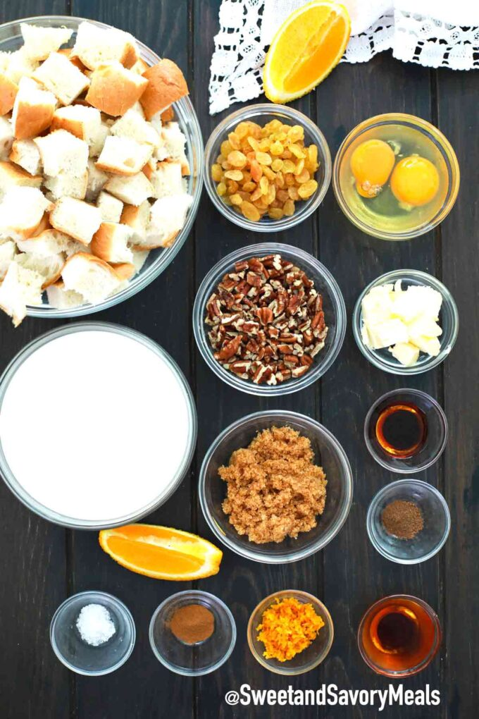 instant pot bread pudding ingredients